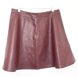 IRIS LA NWT Sz XL Faux Leather Skater Mini Skirt